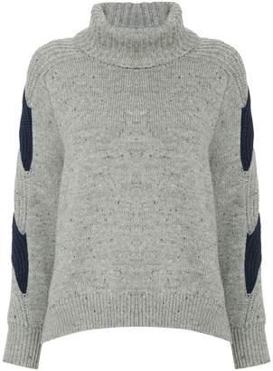 Coohem contrast roll-neck sweater