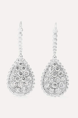 Boucheron Serpent Bohème 18-karat White Gold Diamond Earrings