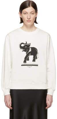 Lanvin Off-White Elephant Sweatshirt
