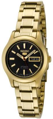 Seiko Women's SYMD96 5 Automatic Dial Gold-Tone Stainless Steel Watch
