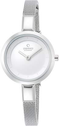 Obaku Women's V129LCIMC Slim Bracelet Stainless Steel Watch