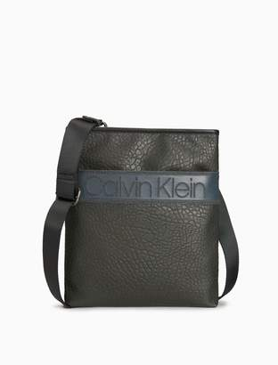 Calvin Klein pebble crossbody flat pack