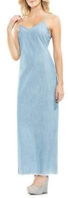 Vince Camuto Zen Bloom Chambray Maxi Dress