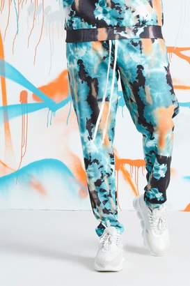 boohoo Big & Tall Quavo Tie Dye Skinny Jogger With Print
