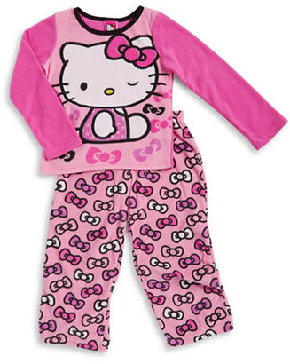 Ame Sleepwear Hello Kitty Fleece Pajama Set $36 thestylecure.com