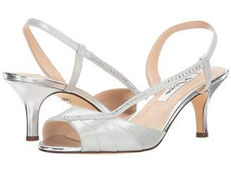 585015097f7 Nina Silver Wrapped Heel Women s Sandals - ShopStyle