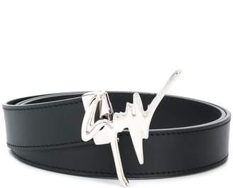 Giuseppe Zanotti Design logo embellished belt