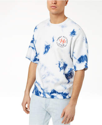 Tommy Hilfiger Men's Percy Tie-Dyed Short-Sleeve Sweatshirt, Created for Macy's