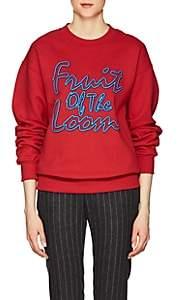 Cédric Charlier Women's Logo Cotton Fleece Sweatshirt - Red