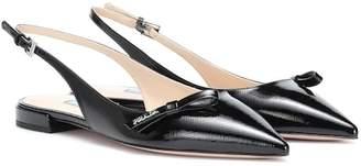 Prada Leather slingback ballet flats