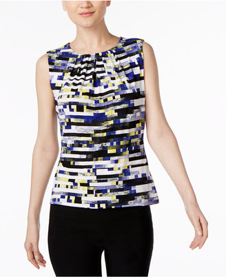Calvin Klein Printed Pleated Shell $39 thestylecure.com