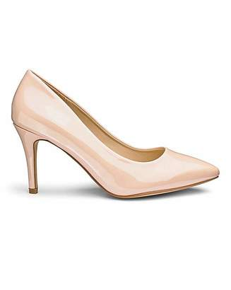 73bdeeda1ff Heavenly Soles Pointed Toe Court Shoes D Fit