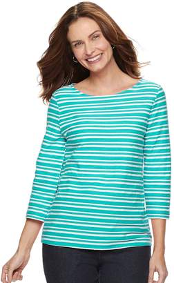 Croft & Barrow Women's Striped Textured Top