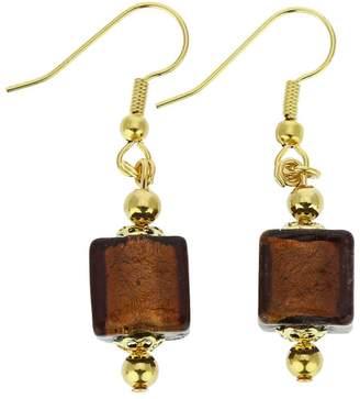Murano GlassOfVenice Glass Antico Tesoro Cubes Earrings - Amethyst
