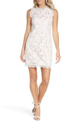 Vince Camuto Sleeveless Eyelash Lace Sheath Dress