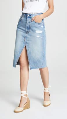 Levi's Deconstructed Long Skirt