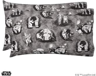 Pottery Barn Teen Star Wars Iconic Moments Sheet Set, Extra Pillowcases, Set of 2, Gray/White