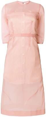 Victoria Beckham 3/4 sleeve layered sheer dress