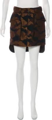 Dries Van Noten Belted Brocade Skirt