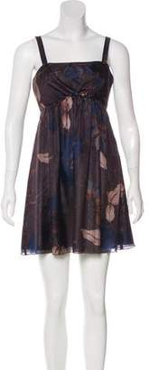 Black Halo Silk Printed Dress w/ Tags