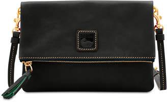 Dooney & Bourke Foldover Zip Leather Crossbody