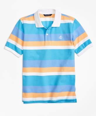 Brooks Brothers (ブルックス ブラザーズ) - 【オンライン限定SALE】BOYS GF コットンピケ ワイドストライプ ポロシャツ
