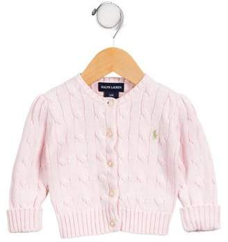 Ralph Lauren Girls' Cable Knit Cardigan