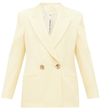 Petar Petrov Jeffrey Double Breasted Wool Blazer - Womens - Yellow