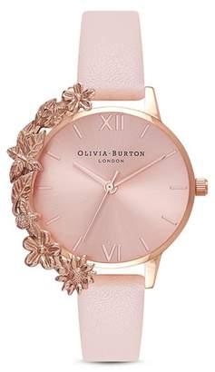 Olivia Burton Floral Trim Watch, 30mm