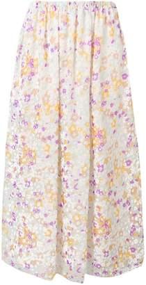 See by Chloe flora print midi skirt