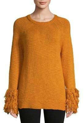 MICHAEL Michael Kors Fringe Cuff Raglan Sweater