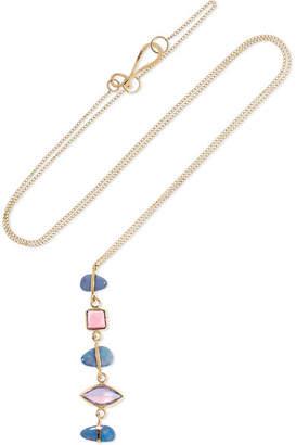 Melissa Joy Manning 14-karat Gold Multi-stone Necklace - one size