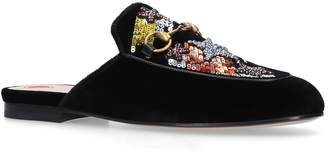 Gucci Sequin Princetown Slippers