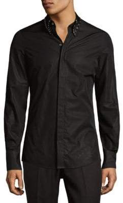 DSQUARED2 Embellished Collar Button-Down Shirt