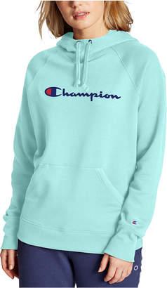 Champion Powerblend Cotton Logo Hoodie