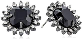 Carolee Gotham Button Pierced Stud Earrings