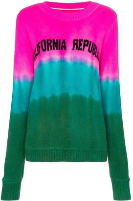The Elder Statesman tie dye California intarsia cashmere sweater