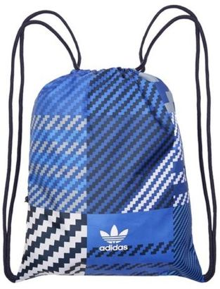 New Mens Blue Drawstring Gymsack Polyester Bag Backpacks