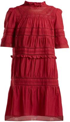 Etoile Isabel Marant Vicky lace-trimmed cotton-blend dress