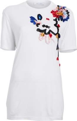 Prabal Gurung Short Sleeve Floral T-Shirt