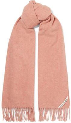 Acne Studios Canada Fringed Wool Scarf - Antique rose