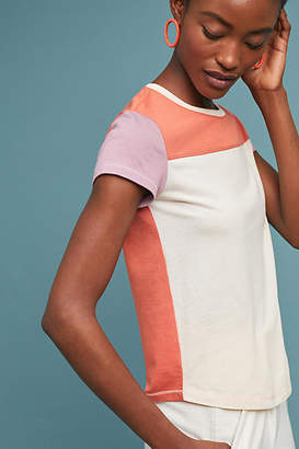 Anthropologie Colorblock Baseball Tee