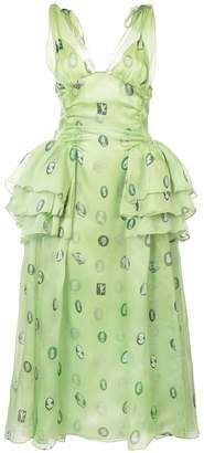 Rosie Assoulin printed V-neck dress
