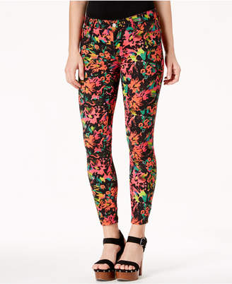 GUESS Floral-Print Skinny Jeans
