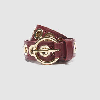 Sandro Belt with round buckle and eyelets