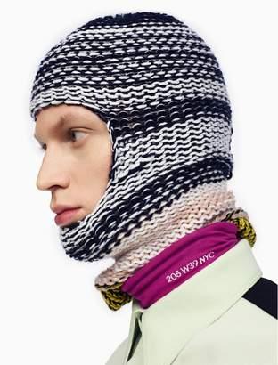Calvin Klein reverse striped knit balaclava