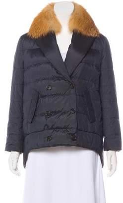 Brunello Cucinelli Fox-Trimmed Down Jacket