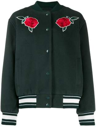Lacoste Live rose embroidery bomber jacket