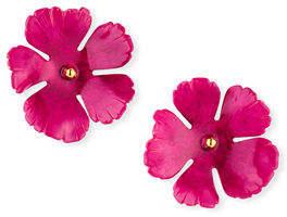 Jennifer Behr Grace Hand-Painted Flower Stud Earrings