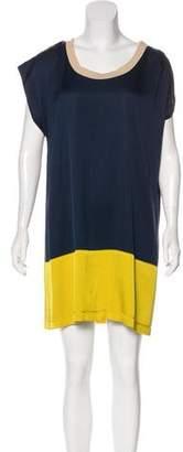 Haute Hippie Silk Colorblock Dress